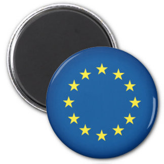 Flag of The European Union 2 Inch Round Magnet