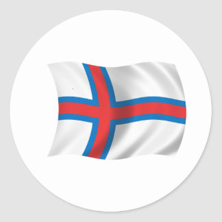 Flag of the Faroe Islands Round Sticker