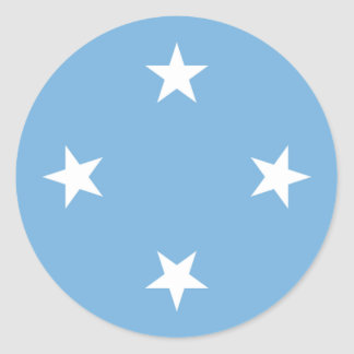 Flag of the Federated States of Micronesia Classic Round Sticker