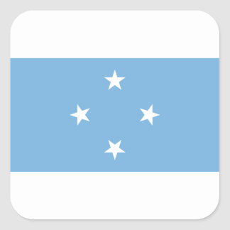 Flag of the Federated States of Micronesia Square Sticker