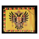 Flag of the Imperial Habsburg Dynasty, c.1700 Poster