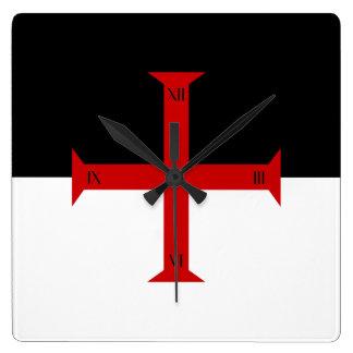 Flag of the Knights Templar Wall Clock