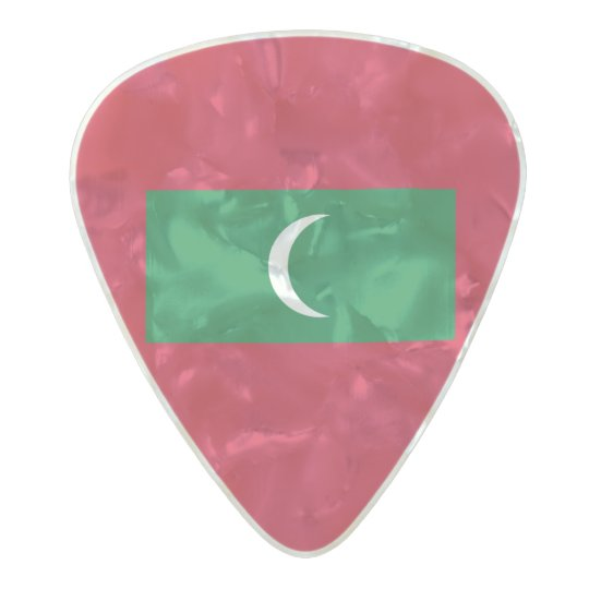 Flag of the Maldives Guitar Picks Pearl Celluloid Guitar Pick