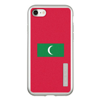 Flag of the Maldives Silver iPhone Case