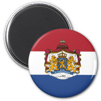 Flag of The Netherlands Coat of Arms Fridge Magnet