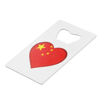 Flag of the People's Republic China Credit Card Bottle Opener