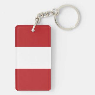 Flag of the Peru Keychain