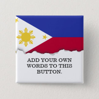 Flag of the Phillipines 2 Inch Square Button