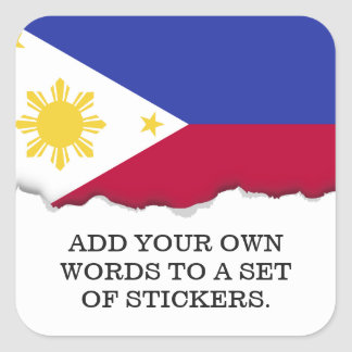 Flag of the Phillipines Square Sticker
