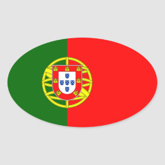 Flag of the Portugal Oval Sticker
