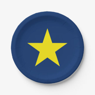 Flag of the Republic of Texas 7 Inch Paper Plate