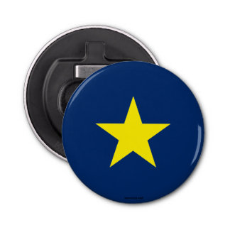 Flag of the Republic of Texas Button Bottle Opener