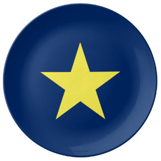 Flag of the Republic of Texas Porcelain Plate