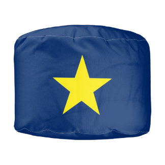 Flag of the Republic of Texas Pouf