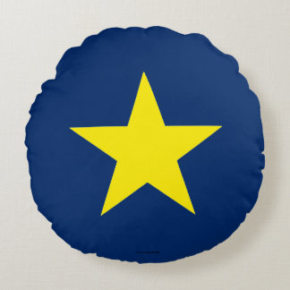 Flag of the Republic of Texas Round Pillow
