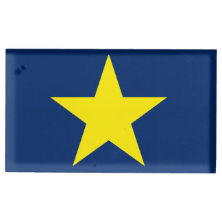 Flag of the Republic of Texas Table Card Holder