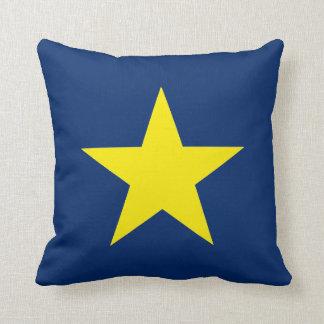Flag of the Republic of Texas Throw Pillow