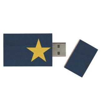 Flag of the Republic of Texas Wood USB 2.0 Flash Drive