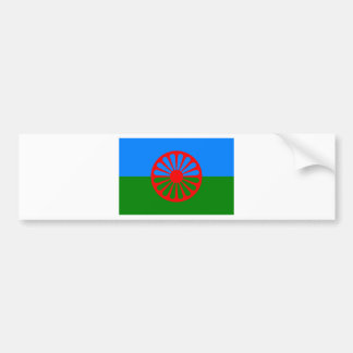 Flag of the Romani people - Romani flag Bumper Sticker
