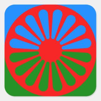 Flag of the Romani people - Romani flag Square Sticker