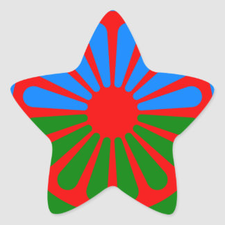 Flag of the Romani people - Romani flag Star Sticker