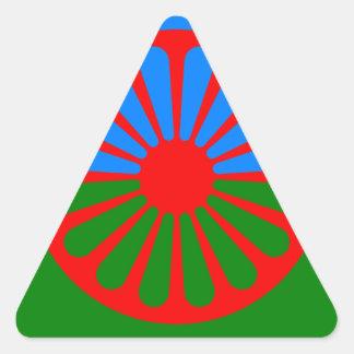 Flag of the Romani people - Romani flag Triangle Sticker