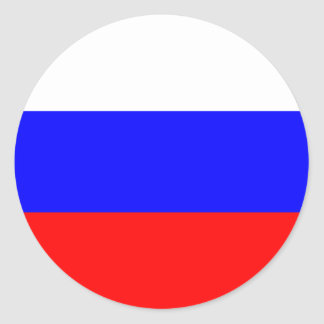Flag of the Russian Federation Classic Round Sticker