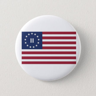 Flag  of the Second American Revolution 2 Inch Round Button