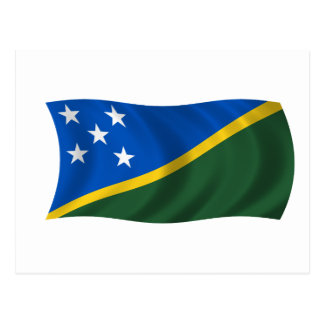 Flag of the Solomon Islands Postcard