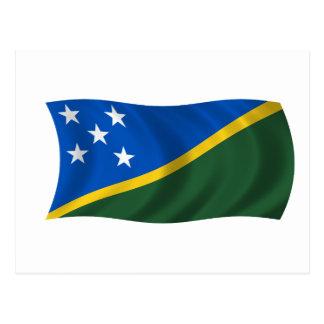 Flag of the Solomon Islands Postcard