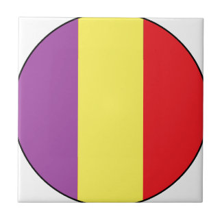 Flag of the Spanish Republic - Bandera Tricolor Tile