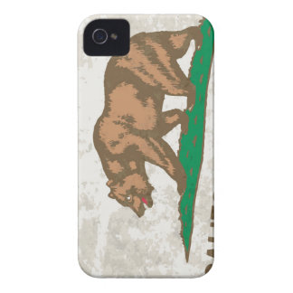 Flag of the State of California Grunge iPhone 4 Case-Mate Case
