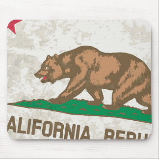 Flag of the State of California Grunge Mouse Pad