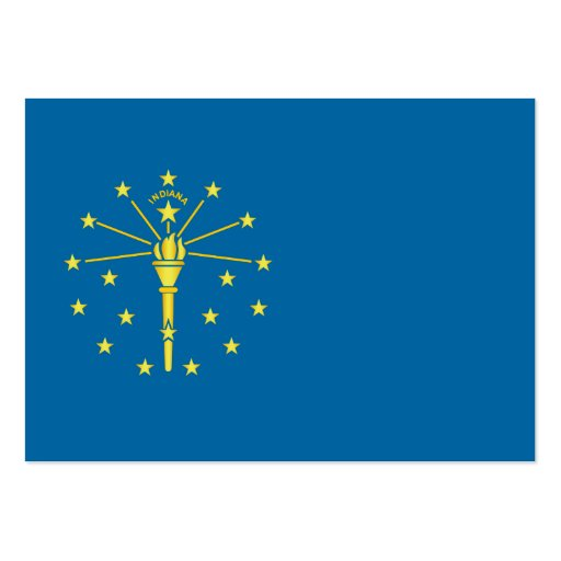 Flag of the State of Indiana Business Card Templates