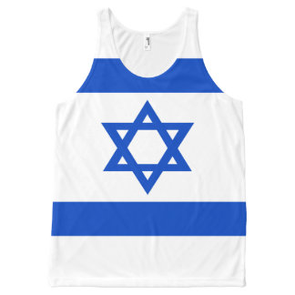 Flag of the State of Israel All-Over-Print Tank Top
