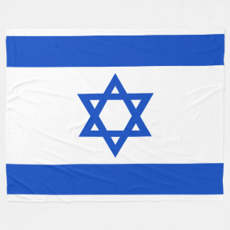 Flag of the State of Israel Fleece Blanket