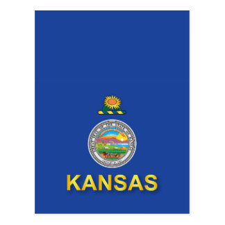Flag of the State of Kansas Postcard