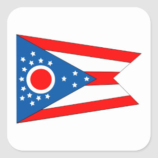 Flag of the State of Ohio Square Sticker