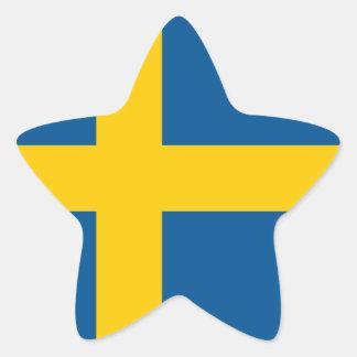 Flag of the Sweden Sticker (Star)