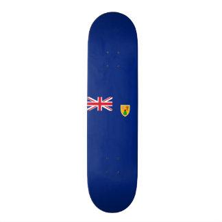 Flag of the Turks and Caicos Skateboard Deck