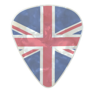 Flag of the United Kingdom Guitar Picks Pearl Celluloid Guitar Pick