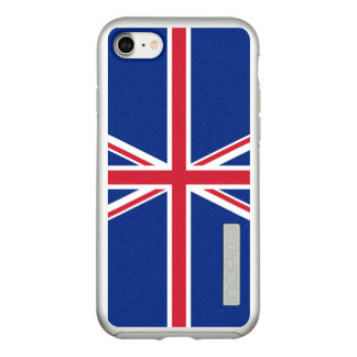 Flag of the United Kingdom Silver iPhone Case