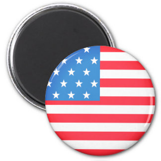 Flag of The United States 2 Inch Round Magnet