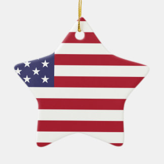 Flag of the United States Ceramic Star Ornament