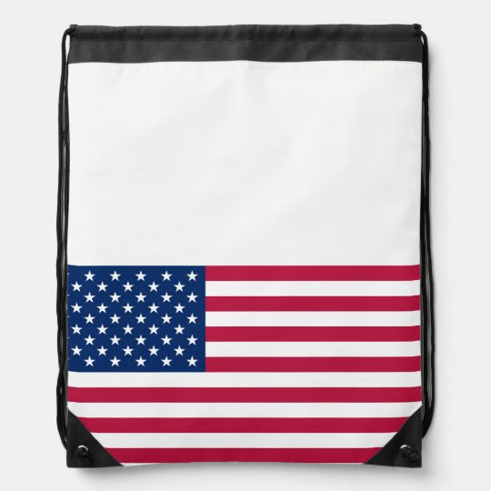 Flag of the United States Drawstring Backpack