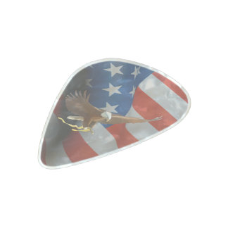 Flag of the United States Pearl Celluloid Guitar Pick