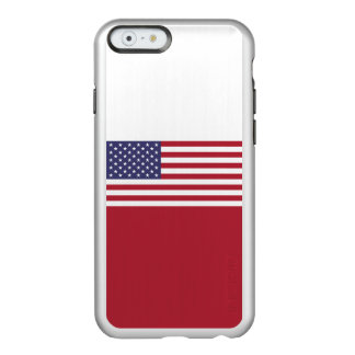 Flag of the United States Silver iPhone Case