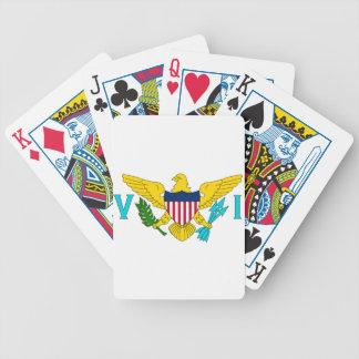 Flag of the US Virgin Islands Poker Deck