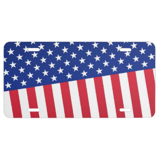 Flag of the USA abstract design License Plate