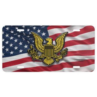 Flag of the USA Insignia License Plate